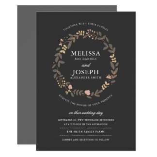 Delicate Floral Wedding Invitation