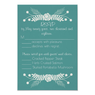 Delicate Floral Wedding Response Card