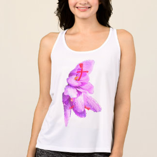 Delicate Flower. Customize with your own text! Tank Top
