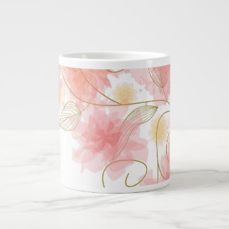Delicate flower jumbo mug