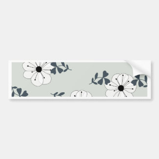 Delicate Flowers Design Bumper Sticker