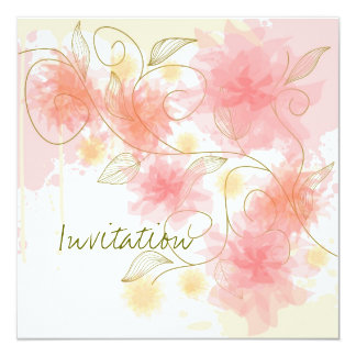 Delicate flowers invitation
