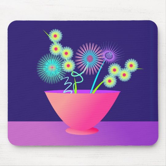 Delicate flowers mouse pad