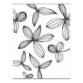 Delicate Flowers Postcard