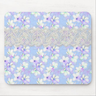 Delicate Flowery and Lace Mouse Pad