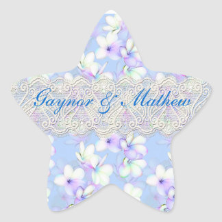 Delicate Flowery and Lace Star Sticker