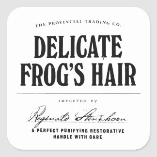 Delicate Frog's Hair - apothecary label