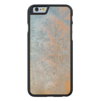 Delicate frost pattern, Wisconsin Carved Maple iPhone 6 Case