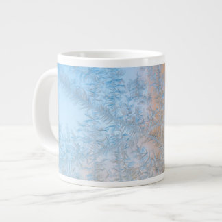 Delicate frost pattern, Wisconsin Large Coffee Mug