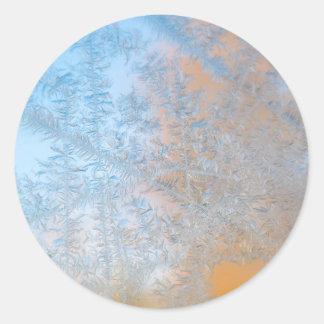 Delicate frost pattern, Wisconsin Round Sticker