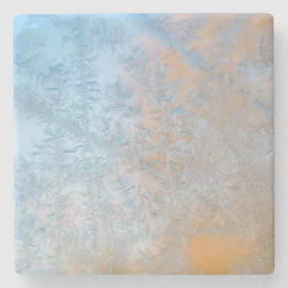 Delicate frost pattern, Wisconsin Stone Coaster