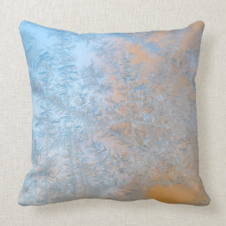 Delicate frost pattern, Wisconsin Throw Pillow