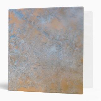 Delicate frost pattern, Wisconsin Vinyl Binder