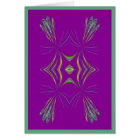 Delicate Geometric on Purple  Card