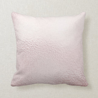 Delicate Glass Lilac Pink Metallic Pillow