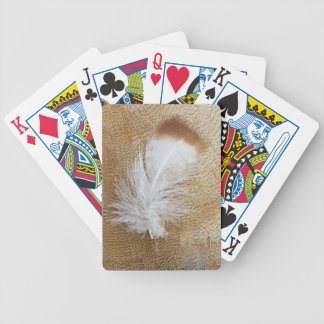 Delicate Goose Feathers Bicycle Playing Cards