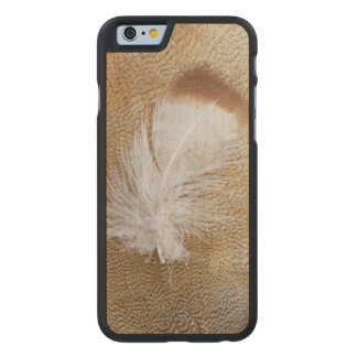 Delicate Goose Feathers Carved Maple iPhone 6 Case