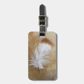 Delicate Goose Feathers Luggage Tag