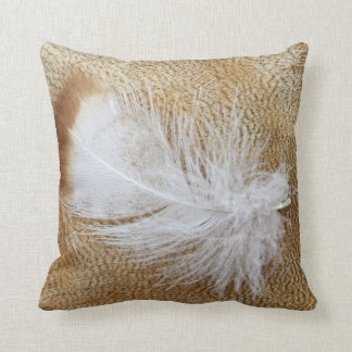 Delicate Goose Feathers Throw Pillow