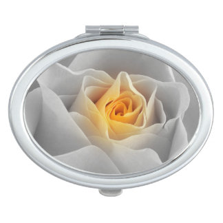 Delicate Gray Rose Mirror For Makeup