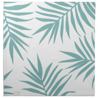 Delicate Green Tropical Leaves Pattern Napkin