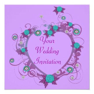 Delicate Heart Wedding Invitation