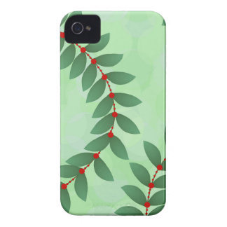 Delicate Holiday Foliage iPhone 4 Cover