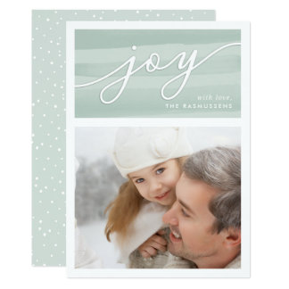 Delicate Joy | Holiday Photo Card