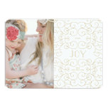 "Delicate Joy   Holiday Photo Card 5"" X 7"" Invitation Card"