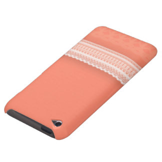 Delicate Lace Against Vibrant Coral iPod Touch Covers