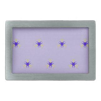 Delicate  lavender Purple Burst Pattern Belt Buckles