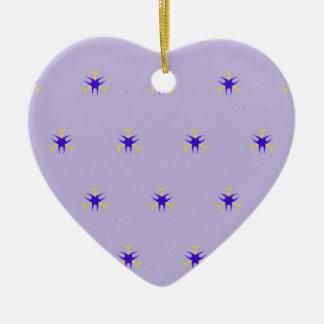 Delicate  lavender Purple Burst Pattern Ceramic Ornament