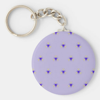 Delicate  lavender Purple Burst Pattern Keychain