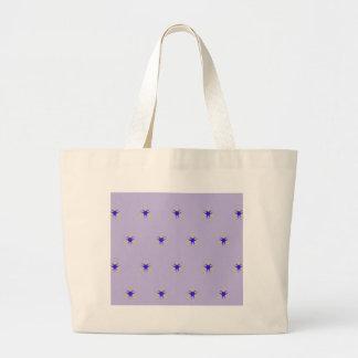 Delicate  lavender Purple Burst Pattern Large Tote Bag