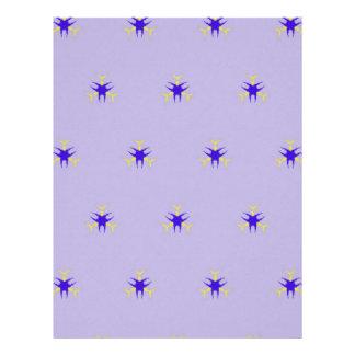 Delicate  lavender Purple Burst Pattern Letterhead