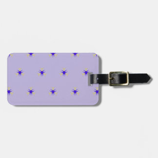 Delicate  lavender Purple Burst Pattern Luggage Tag