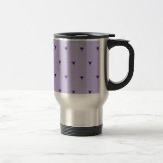 Delicate  lavender Purple Burst Pattern Travel Mug