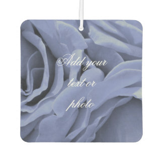 Delicate light blue gray roses flower photo car air freshener
