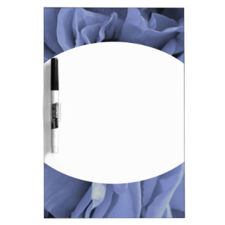 Delicate light blue gray roses flower photo dry erase board