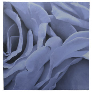 Delicate light blue gray roses flower photo napkin
