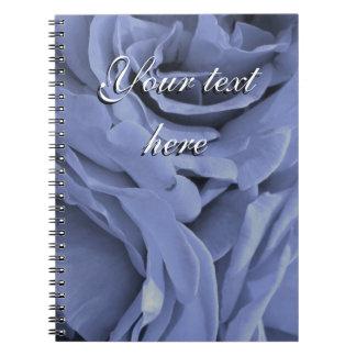 Delicate light blue gray roses flower photo notebook