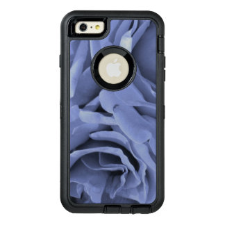 Delicate light blue gray roses flower photo OtterBox defender iPhone case