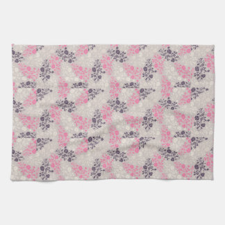 DELICATE LILAC FLORAL PATTERN FOR KITCHEN TOWEL