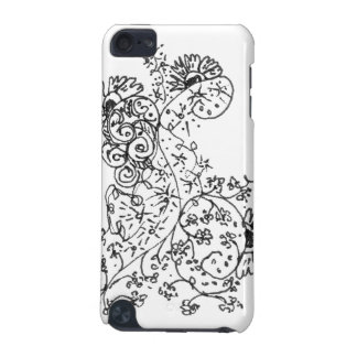 Delicate Line Drawings of Abstract Flower Dance iPod Touch (5th Generation) Cases