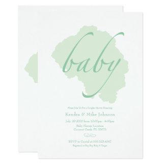 Delicate Mint Baby Shower Invitation