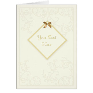 Delicate, ornate swirls 'tag' Greetings Card