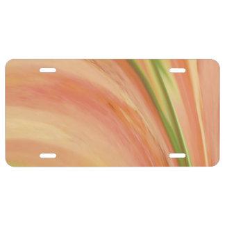 Delicate Peach License Plate