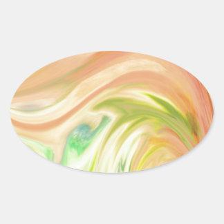 Delicate Peach Oval Sticker