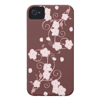 Delicate Pink Cherry Blossom Swirls iPhone 4 Case-Mate Case