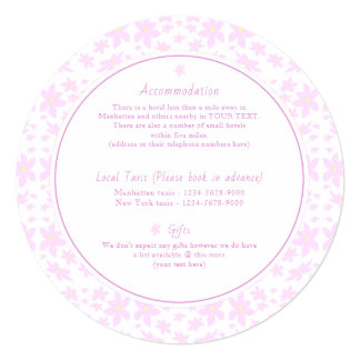 Delicate Pink Flowers Wedding Accommodation Card